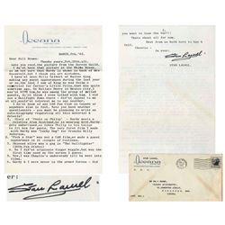Stan Laurel Letter Signed re Career With Laurel & Hardy