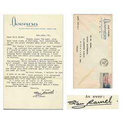Stan Laurel Letter Signed re Replacing L&H w H Langdon