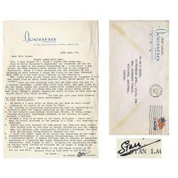 Stan Laurel Letter Signed Re Laurel & Hardy