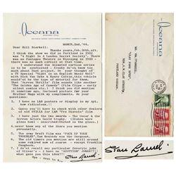 Stan Laurel Letter Signed re Oscar & Screen Actors Gld