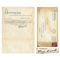 Stan Laurel Typed Letter Signed September 17, 1960