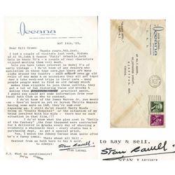 Stan Laurel Letter Signed re Pie Throwing in Laurel & H