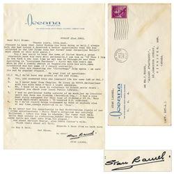 Stan Laurel Letter Signed re Marilyn Monroe's Death