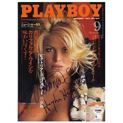 Hugh Hefner Signed Victoria Silvstedt Playboy Magazine