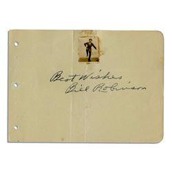 Bonjangles Bill Robinson Signed Autograph Signature