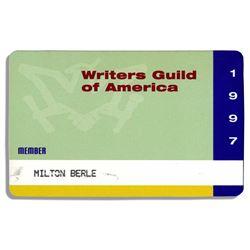 Milton Berle's WGA Membership Card ex: Bonham's