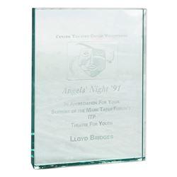Lloyd Bridges Glass Plaque From Center Theatre Group