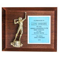 Actor Lloyd Bridges Tennis Trophy