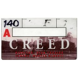 Rocky aka Creed Clapperboard Sylvester Stallone MGM COA