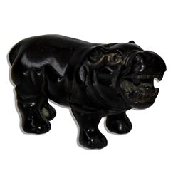 Marlene Dietrich Personally-Owned Wood Hippo Figurine