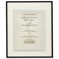 Emmy Nomination Certificate for The Learning Channel