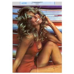 """Farrah Fawcett's Owned Copy of """"THE Poster"""" with CAG"""