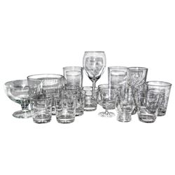 Huge Collection of 44 Glassware Owned by Greta Garbo