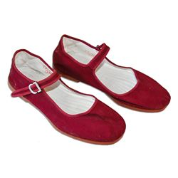 Greta Garbo Owned Red Flat ''Mary Janes'' Size 38 Shoes