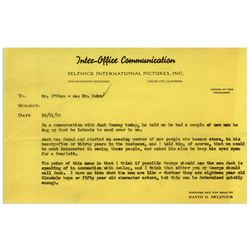 Gone With the Wind Memo From Selznick re Scarlett