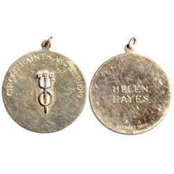 Helen Hayes Estate Circus Saints and Sinners Gold Medal