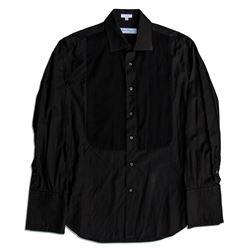 Dennis Hopper Owned & Worn Black Tuxedo Shirt COA