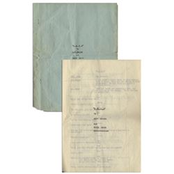 Moe Howard's 10pp. ''HATS'' Script, C. 1933 from Estate