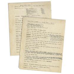 Howard, Fine & Howard Theatrical Show 1930's Script