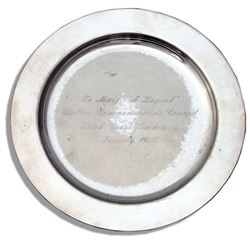 Mary Martin's Silver Plate Award From Dallas