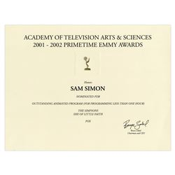 Emmy Nomination for The Simpsons ''She of Little Faith''