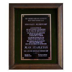 1975 Jean Stapleton Carnegie Mellon Honorary Plaque