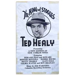 Rare handbill featuring Ted Healy as ''The King of Stooges''