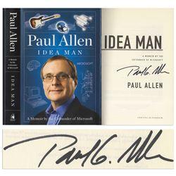 Paul Allen Signed First Edition of His Memoir Idea Man