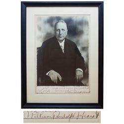 William Randolph Hearst 10.25'' x 13.25'' Signed Photo