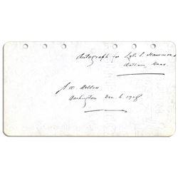 Andrew Mellon Signature as Secretary of the Treasury
