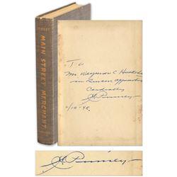 J.C. Penney ''Main Street Merchant'' Book Signed