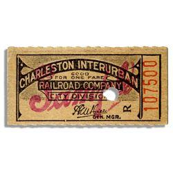 Charleston, W Virginia Interurban Electric Railroad Tkt