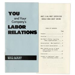 Walmart Pamphlet From the 1970s Anti Union Propaganda