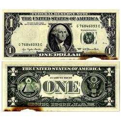 1977 $1 Error Note -- Discoloration Along Bottom Edge
