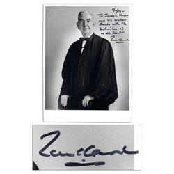 U.S. Supreme Court Justice Tom C. Clark Signed Photo