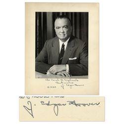 J. Edgar Hoover Signed Photograph w FBI Envelope