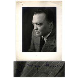 FBI Chief J. Edgar Hoover 1946 9 x 11.5 Signed Photo