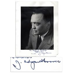 J. Edgar Hoover 1950 Signed Photo With His Autograph