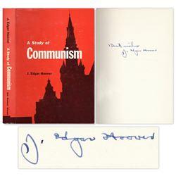 J. Edgar Hoover Signed ''A Study of Communism'' Book