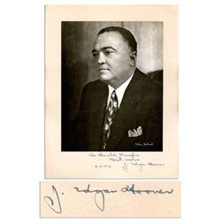 J. Edgar Hoover Signed 6.75'' x 8.5'' Matte Photo