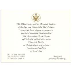 Invitation to the Investiture Ceremony of Elena Kagen