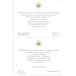 Invitations to the Investiture Ceremony of John Roberts