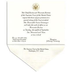 Justice Sonia Sotomayor Invitation to the Investiture