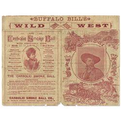 1892 Insert for ''Buffalo Bill's Wild West'' Show