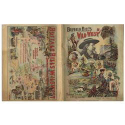 1898 Program for ''Buffalo Bill's Wild West'' Show