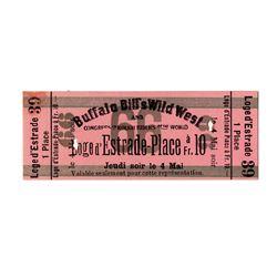 Original Ticket to ''Buffalo Bill'' Cody's Wild West Show