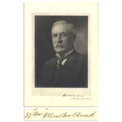 Rare Portrait Photo Signed by William Mulholland