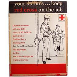 Korean War Red Cross Poster Featuring Home Service