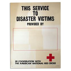 American Red Cross Disaster Victims 1971 Poster