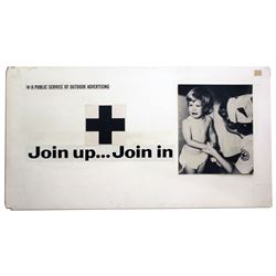 Original 1964 Red Cross Poster Artwork Join Up Join In